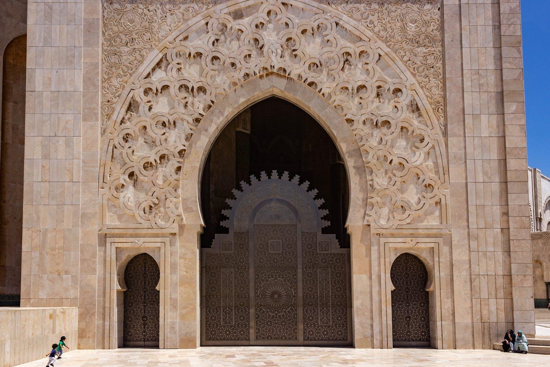 Moschea più grande del Marocco:portale