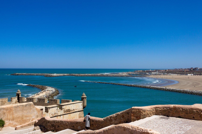 Vista sull'oceano Atlantico dalla Kasbah di Rabat