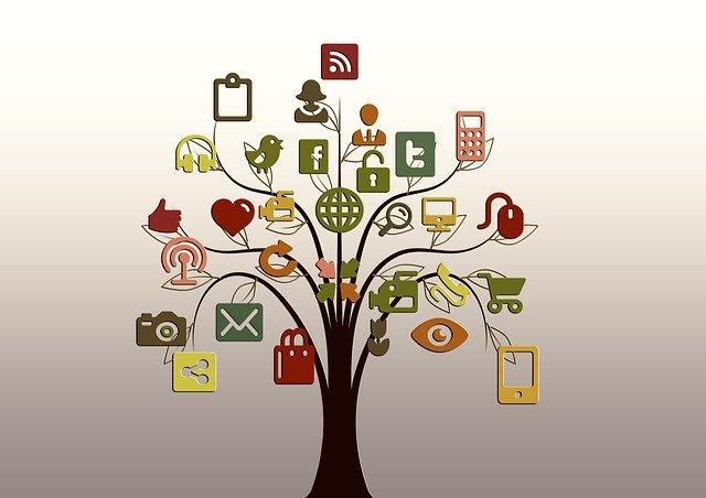 siti utili trasferirsi in Francia: albero con icone